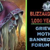 Blizzard bans grieving mother for 1,000 years before reversing their mistake